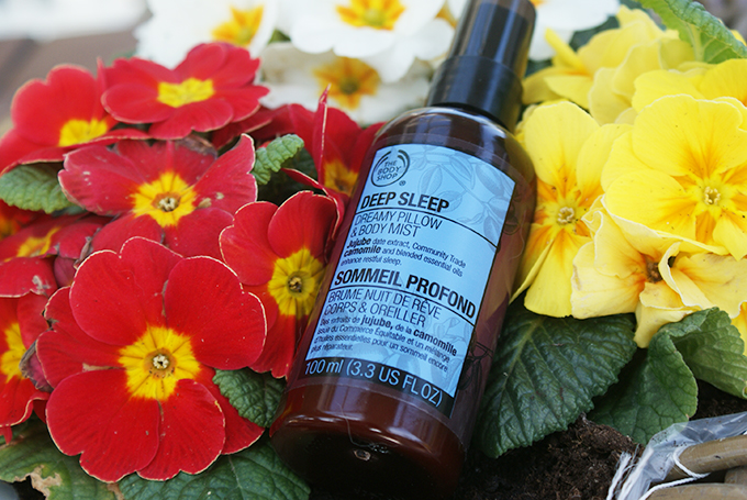 Review: the body shop deep sleep dreamy pillow & body mist oh fashion