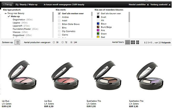 Affordable merken te kopen wat dacht je van nyx la colors for Meubels bestellen met acceptgiro