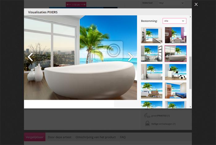 Pixers, dé webshop voor fotobehang en interieur stickers